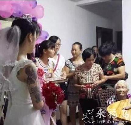 这个新娘子看起来好霸气!