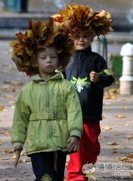 这帽子很大自然啊