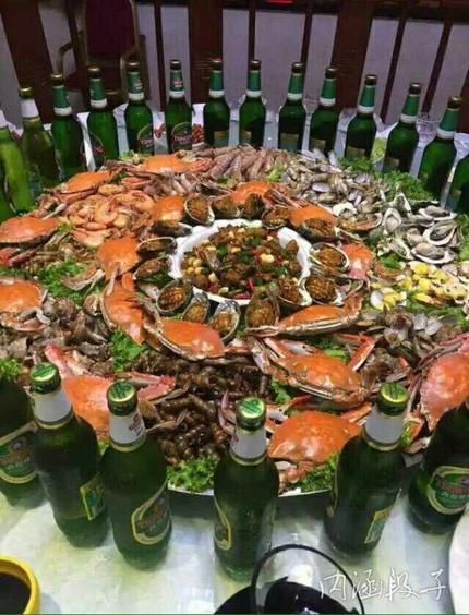 朋友在青岛请吃的大餐