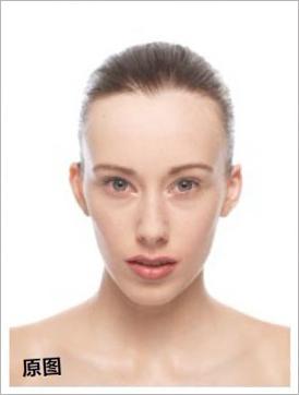 Photoshop将美女头像调制出时尚的紫色彩妆效果