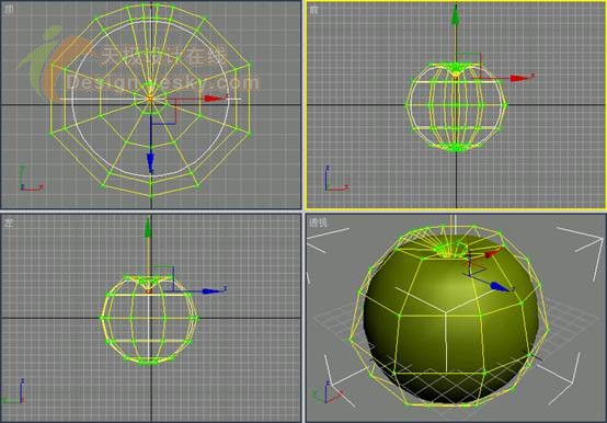 3ds MAX球体工具应用打造逼真苹果